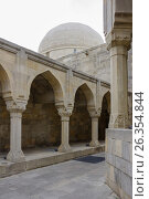 Купить «Divan-hana in Shirvanshahs palace. Icheri sheher (Old Town) of Baku», фото № 26354844, снято 25 апреля 2017 г. (c) Аркадий Захаров / Фотобанк Лори
