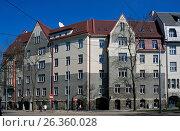 Купить «Riga, Kronvalda boulevard 10, National Romanticism», фото № 26360028, снято 4 мая 2017 г. (c) Andrejs Vareniks / Фотобанк Лори