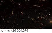 Купить «Fireworks in the city, day of Victory - slowmotion 60 fps», видеоролик № 26360576, снято 16 мая 2017 г. (c) Dzmitry Astapkovich / Фотобанк Лори