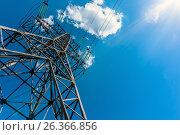Electricity transmission tower power supply pylon. Стоковое фото, фотограф Dmitriy Melnikov / Фотобанк Лори