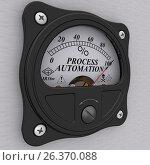 Купить «Process automation. The percent of implementation», иллюстрация № 26370088 (c) WalDeMarus / Фотобанк Лори