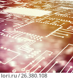 Купить «Composite image of circuit board on white background», иллюстрация № 26380108 (c) Wavebreak Media / Фотобанк Лори