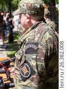 Офицер спецназа ГУФСИН в камуфляжной форме (2017 год). Редакционное фото, фотограф FotograFF / Фотобанк Лори