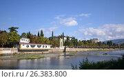 Купить «Городской пейзаж Сочи и реки Сочи», фото № 26383800, снято 22 сентября 2014 г. (c) Александр Карпенко / Фотобанк Лори