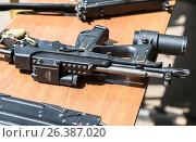 Купить «Российское автоматическое огнестрельное оружие. Пистолет-пулемет ПП-2000», фото № 26387020, снято 27 мая 2017 г. (c) FotograFF / Фотобанк Лори