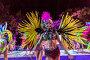 Девушки в бразильских костюмах с перьями на открытии курортного сезона в Сочи 2017, эксклюзивное фото № 26387588, снято 27 мая 2017 г. (c) Николай Сивенков / Фотобанк Лори