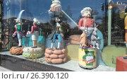 Купить «Санкт-Петербург, витрина с игрушками Торгового дома Елисеевых на Невском проспекте», эксклюзивный видеоролик № 26390120, снято 23 мая 2017 г. (c) Дмитрий Неумоин / Фотобанк Лори