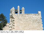 Купить «Колокола в монастыре Бейт Джамаль на фоне неба», фото № 26391052, снято 18 февраля 2017 г. (c) Irina Opachevsky / Фотобанк Лори