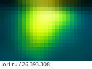 Купить «Ярко-желто-зеленый мозаичный квадратный фон из плиткию Bright yellow green mosaic square tiles background», иллюстрация № 26393308 (c) TasiPas / Фотобанк Лори