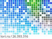 Купить «Синий зеленый красный случайные непрозрачности мозаики на белом фоне. Blue green red occasional opacity mosaic over white», иллюстрация № 26393316 (c) TasiPas / Фотобанк Лори