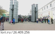 Demonstration of military equipment while celebrating the victory day (2017 год). Редакционное видео, видеограф Елена Абдураманова / Фотобанк Лори