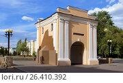 Город Омск, исторический памятник «Тарские ворота», фото № 26410392, снято 21 мая 2017 г. (c) Виктор Топорков / Фотобанк Лори