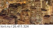 Купить «View of New York Manhattan during sunset hours», фото № 26411324, снято 20 декабря 2013 г. (c) Elnur / Фотобанк Лори