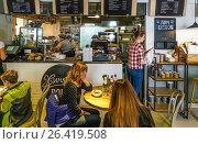 Купить «Интерьер хинкальни-point», эксклюзивное фото № 26419508, снято 27 мая 2017 г. (c) Виктор Тараканов / Фотобанк Лори