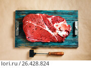Top view of fresh beef veal meat. Стоковое фото, фотограф Дарья Зуйкова / Фотобанк Лори