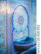 Muslim old mosque mosaic details. Стоковое фото, фотограф Дарья Зуйкова / Фотобанк Лори