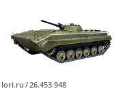 Russian infantry light tank BMP-2 with clipping path. Стоковое фото, фотограф Dmitriy Melnikov / Фотобанк Лори