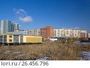 Купить «Район Рыбацкое. Санкт-Петербург», фото № 26456796, снято 5 марта 2017 г. (c) Тарановский Д. / Фотобанк Лори