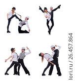 Купить «Pair of dancers dancing modern dances», фото № 26457864, снято 19 февраля 2013 г. (c) Elnur / Фотобанк Лори