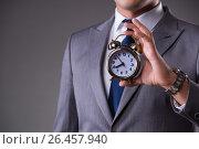 Купить «Businessman in time management concept», фото № 26457940, снято 26 октября 2016 г. (c) Elnur / Фотобанк Лори