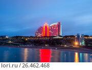 Купить «Baku - JUNE 29, 2015: Jumeirah Hotel on June 29 in Baku, Azerbai», фото № 26462468, снято 29 июня 2015 г. (c) Elnur / Фотобанк Лори