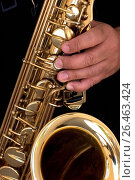 Купить «Hand on a saxophone», фото № 26463424, снято 15 февраля 2006 г. (c) age Fotostock / Фотобанк Лори