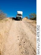 Купить «Off-road vehicle near Ugab Terrace Lodge, Namibia», фото № 26478952, снято 31 мая 2008 г. (c) age Fotostock / Фотобанк Лори