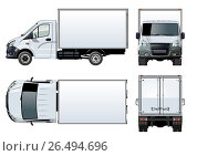 Купить «Vector truck template isolated on white», иллюстрация № 26494696 (c) Александр Володин / Фотобанк Лори