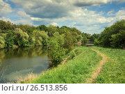 Купить «Озеро в лесной зоне», фото № 26513856, снято 21 мая 2017 г. (c) виктор химич / Фотобанк Лори