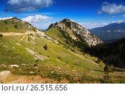 Купить «Summer view of forest mountains landscape», фото № 26515656, снято 19 января 2019 г. (c) Яков Филимонов / Фотобанк Лори