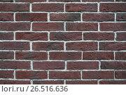 Купить «Кирпичная стена», фото № 26516636, снято 6 июня 2013 г. (c) Алёшина Оксана / Фотобанк Лори
