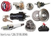 Купить «car repair parts isolated», фото № 26518896, снято 17 января 2019 г. (c) Яков Филимонов / Фотобанк Лори