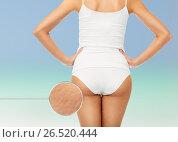 Купить «close up of woman body in white underwear», фото № 26520444, снято 9 апреля 2017 г. (c) Syda Productions / Фотобанк Лори