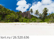 Купить «tropical island beach on seychelles», фото № 26520636, снято 12 февраля 2017 г. (c) Syda Productions / Фотобанк Лори