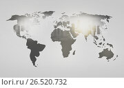 Купить «world map with city over white background», фото № 26520732, снято 17 июня 2019 г. (c) Syda Productions / Фотобанк Лори