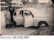 Купить «Поездка на такси, 50-е годы», фото № 26535080, снято 23 августа 2019 г. (c) Retro / Фотобанк Лори