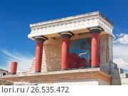 Купить «Кносский дворец на Крите, Ираклион, Греция», фото № 26535472, снято 5 июня 2017 г. (c) Наталья Волкова / Фотобанк Лори