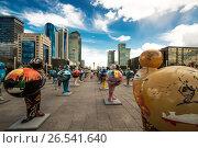 Купить «Казахстан. Астана.  ЭКСПО - 2017 в центре города», фото № 26541640, снято 10 июня 2017 г. (c) Сергеев Валерий / Фотобанк Лори