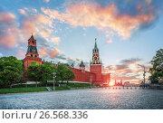Купить «Москва. Красная площадь. Башни Кремля. The towers of the Kremlin», фото № 26568336, снято 26 мая 2017 г. (c) Baturina Yuliya / Фотобанк Лори