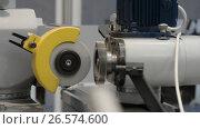 Купить «Automatic Grinding Machine makes grinding of the rotary cutter», видеоролик № 26574600, снято 23 мая 2017 г. (c) Андрей Радченко / Фотобанк Лори