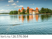 Купить «Тракайский замок», фото № 26576064, снято 16 июня 2017 г. (c) Geraldas Galinauskas / Фотобанк Лори