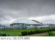 Купить «Sochi, Russia - May 31, 2017: Olympic park and Fisht stadium for Winter Olympic Games 2014. football stadium», фото № 26579880, снято 31 мая 2017 г. (c) ElenArt / Фотобанк Лори