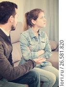 Купить «Father and daughter arguing», фото № 26581820, снято 4 марта 2017 г. (c) Яков Филимонов / Фотобанк Лори