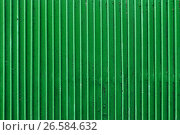 Купить «old green painted metal ribbed surface», фото № 26584632, снято 27 июня 2016 г. (c) Syda Productions / Фотобанк Лори