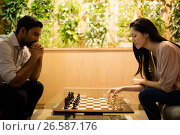 Купить «Business colleagues playing chess», фото № 26587176, снято 26 ноября 2016 г. (c) Wavebreak Media / Фотобанк Лори