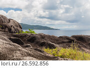 view to indian ocean from seychelles island (2017 год). Стоковое фото, фотограф Syda Productions / Фотобанк Лори