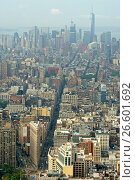 Купить «American Skyscrapers. View of New York, Broadway, Flatiron building, Hudson», фото № 26601692, снято 26 июля 2016 г. (c) Валерия Попова / Фотобанк Лори