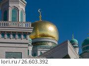 Купить «Московская соборная мечеть», фото № 26603392, снято 1 апреля 2017 г. (c) Pukhov K / Фотобанк Лори
