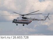Купить «Международный авиационно-космический салон МАКС-2015. Российский вертолет МЧС Миль Ми-8МТ, бортовой номер RF-32831», фото № 26603728, снято 23 августа 2015 г. (c) Малышев Андрей / Фотобанк Лори