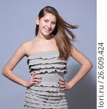 Studio shoot portrait attractive young girl, фото № 26609424, снято 27 января 2012 г. (c) Tatjana Romanova / Фотобанк Лори